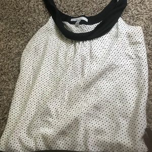 Silk blouse with polka dots and tie side